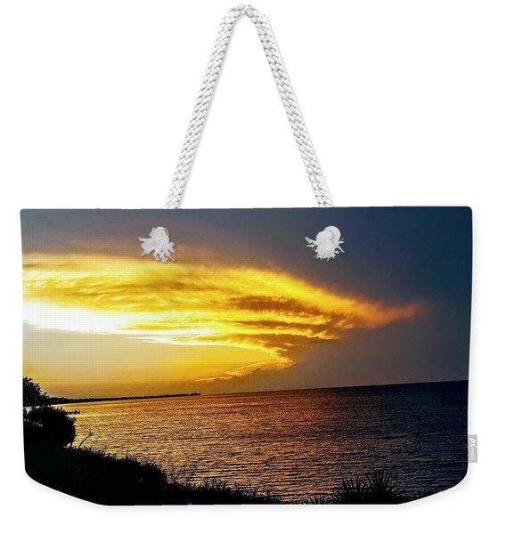 Sunset Over Mobile Bay Weekender Tote Bag