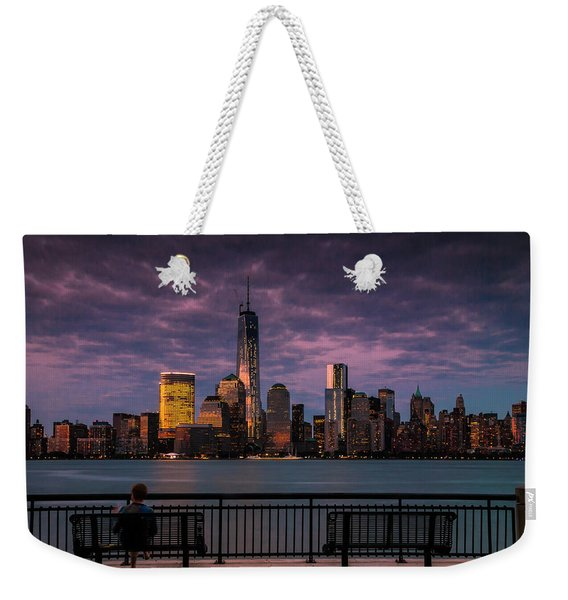 Sunset Over New World Trade Center New York City Weekender Tote Bag