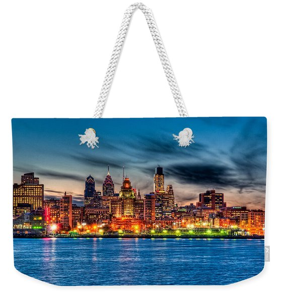 Sunset Over Philadelphia Weekender Tote Bag
