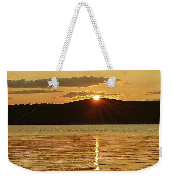Sunset Over Piermont Weekender Tote Bag