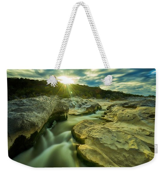 Sunset Over The Cascade Weekender Tote Bag