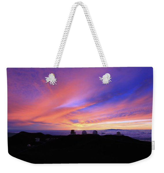 Sunset Over The Clouds Weekender Tote Bag