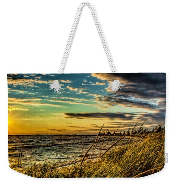 Sunset Over The Great Lake Weekender Tote Bag