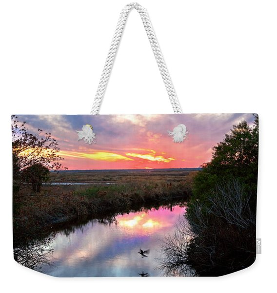 Sunset Over The Marsh Weekender Tote Bag