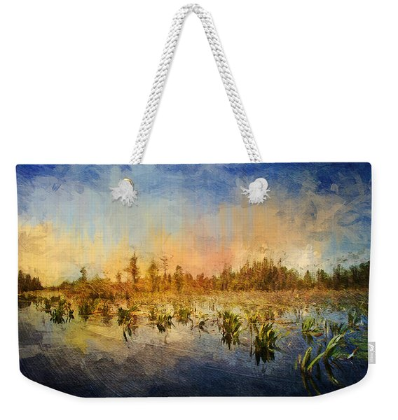 Sunset Over The Okefenokee Weekender Tote Bag