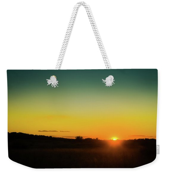 Sunset Over The Prairie Weekender Tote Bag
