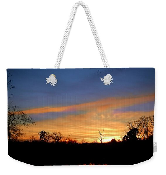 Sunset Over The Sabine 02 Weekender Tote Bag