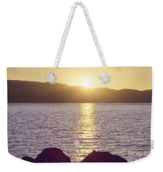 Sunset Over The Straits Weekender Tote Bag