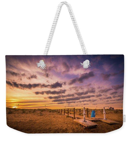 Sunset Over The Walkway. Weekender Tote Bag