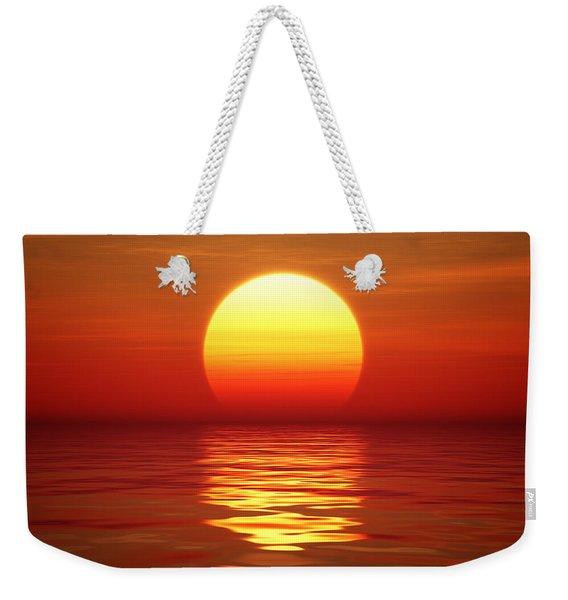 Sunset Over Tranqual Water Weekender Tote Bag
