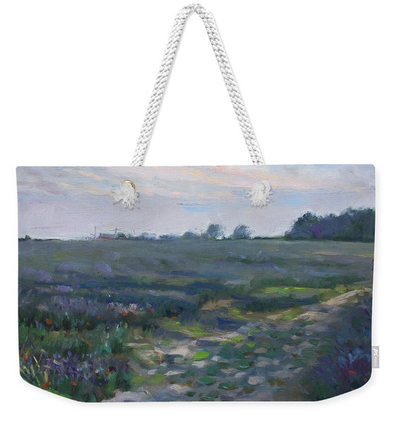 Sunset Over The Field Weekender Tote Bag