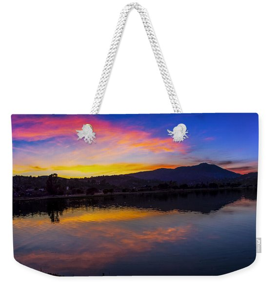 Sunset Panorama Of Mt. Tam And Richardson Bay Weekender Tote Bag