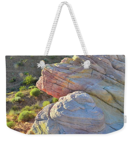 Sunset Pastels In Valley Of Fire Weekender Tote Bag