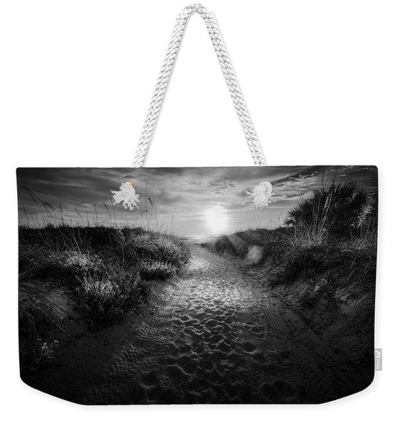 Sunset Path - Bw Weekender Tote Bag