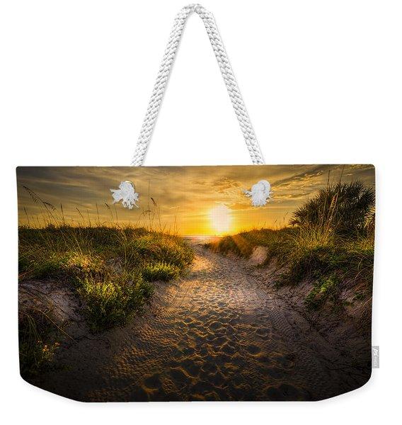 Sunset Path Weekender Tote Bag