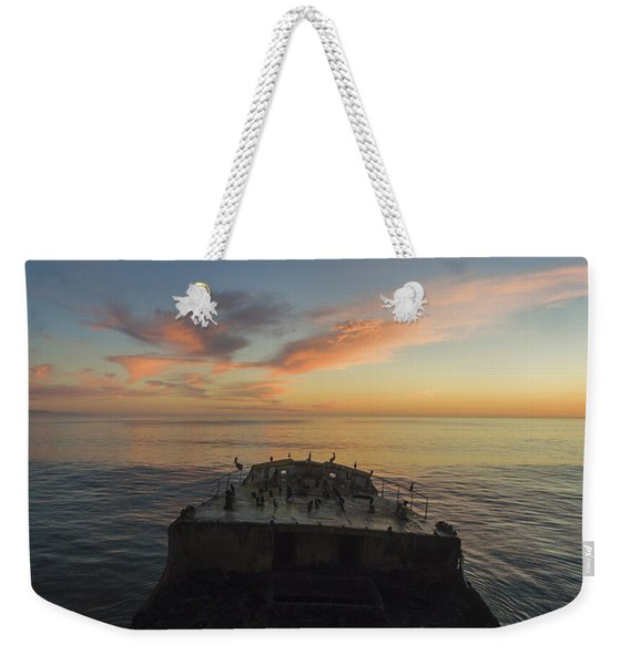 Sunset Perch Weekender Tote Bag