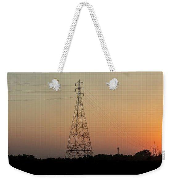 Sunset Pylons Weekender Tote Bag