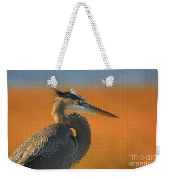 Sunset Reeds Weekender Tote Bag