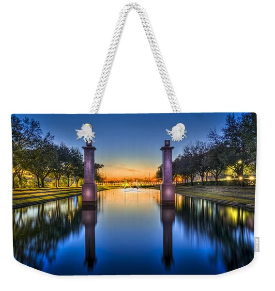 Sunset Reflection Weekender Tote Bag