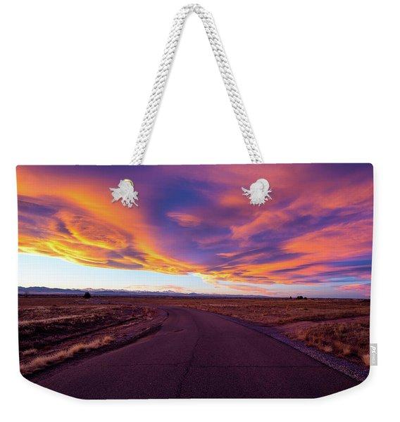 Sunset Road Weekender Tote Bag