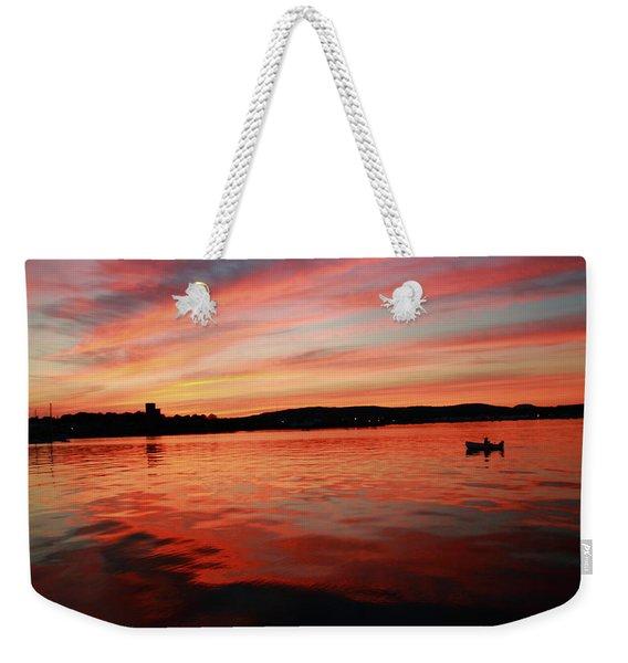 Sunset Row Weekender Tote Bag