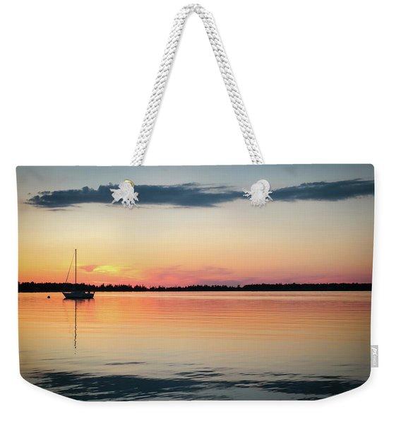 Sunset Sail On Calm Waters Weekender Tote Bag