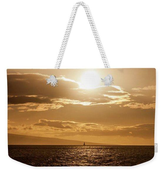 Sunset Sailboat Weekender Tote Bag