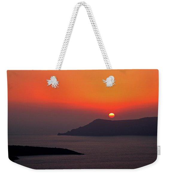 Sunset - Santorini, Greece Weekender Tote Bag