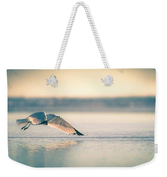 Sunset Seagull Takeoffs Weekender Tote Bag
