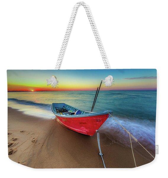 Sunset Skiff Weekender Tote Bag