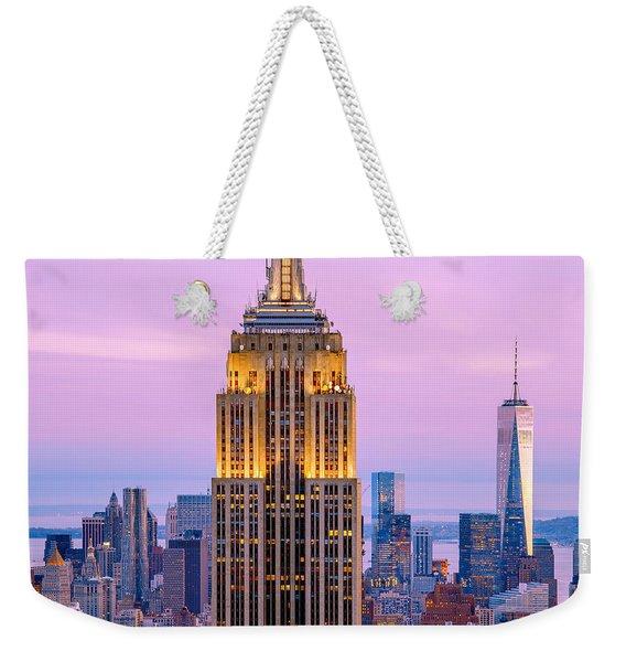 Sunset Skyscrapers Weekender Tote Bag