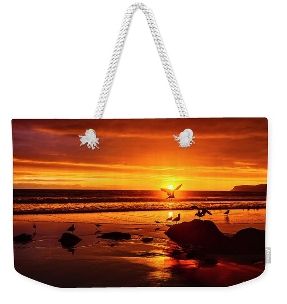 Sunset Surprise Weekender Tote Bag