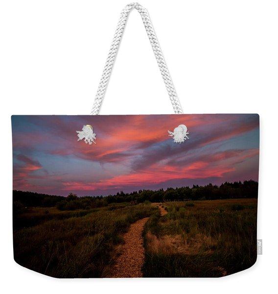 Sunset Trail Walk Weekender Tote Bag