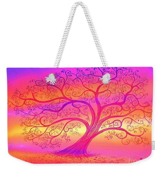 Sunset Tree Cats Weekender Tote Bag
