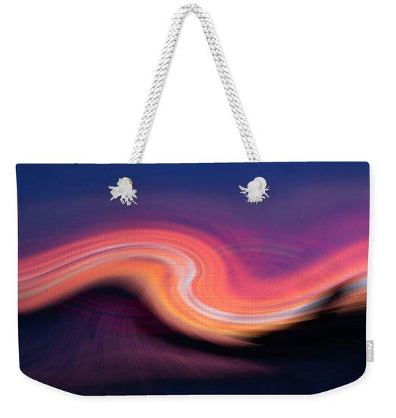 Sunset Twirl Weekender Tote Bag