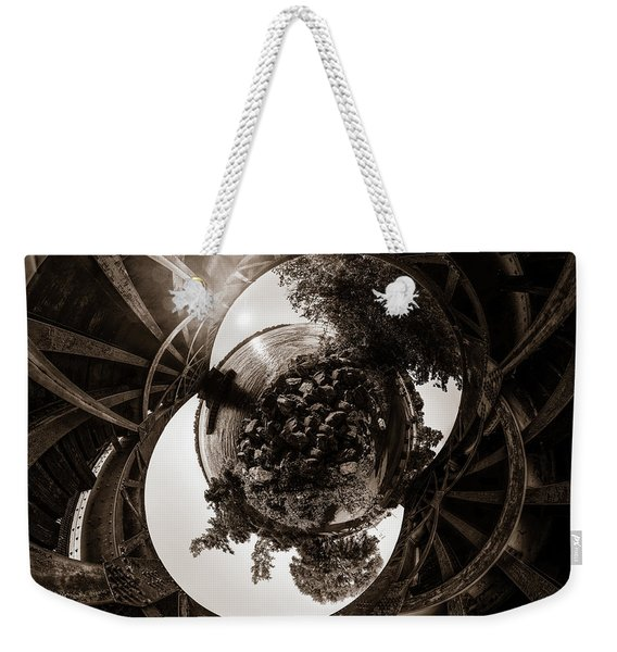 Sunset Under An Iron Sky  - Tiny Planet Weekender Tote Bag