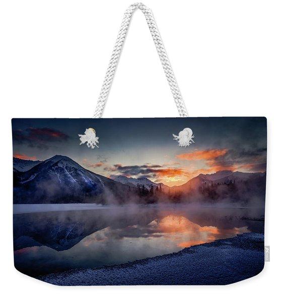 Sunset, Vermilion Lakes Weekender Tote Bag