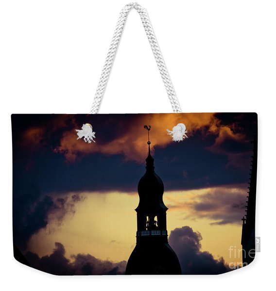 Sunset View In Old Town Riga Weekender Tote Bag