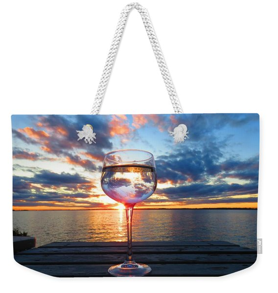 June Sunset On The River Weekender Tote Bag