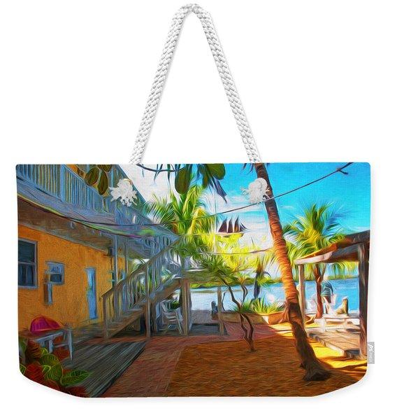 Sunset Villas Patio Weekender Tote Bag