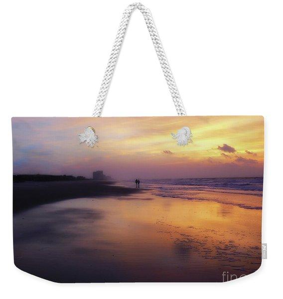 Sunset Walk On Myrtle Beach Weekender Tote Bag