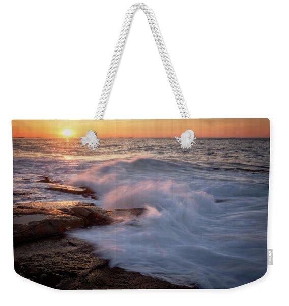 Sunset Waves Rockport Ma. Weekender Tote Bag