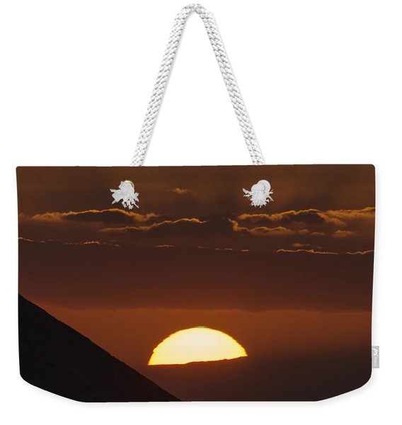 Sunset With Green Ray Phenomenon Weekender Tote Bag