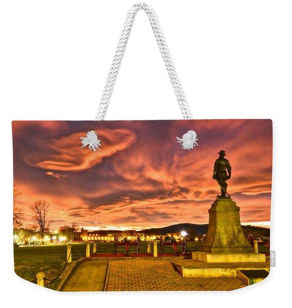 Sunset's Veil Weekender Tote Bag