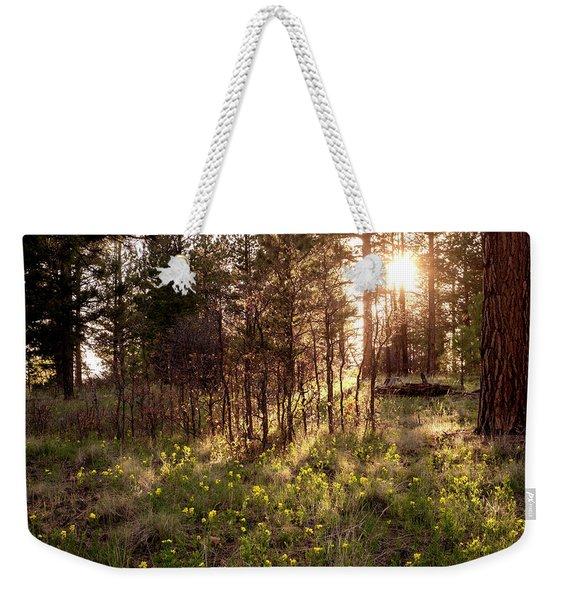 Sunshine And Lupine Weekender Tote Bag