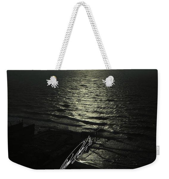 Sunshine Over Central Pier, Atlantic City, Nj Weekender Tote Bag