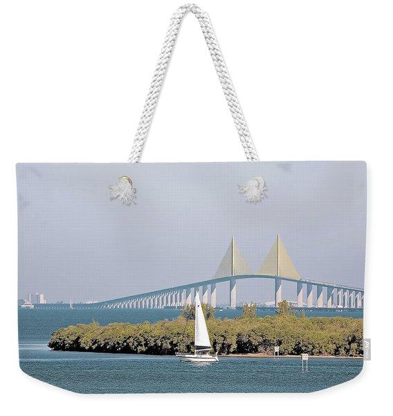 Sunshine Skyway Bridge Weekender Tote Bag