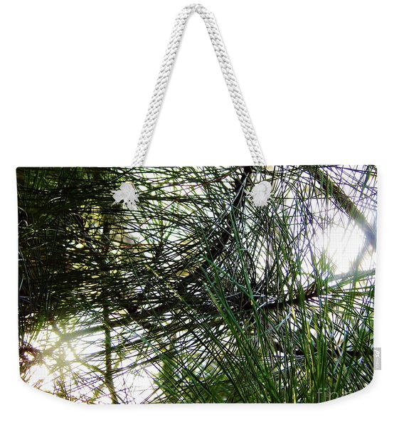 Sunshine Through Pine Needles Weekender Tote Bag