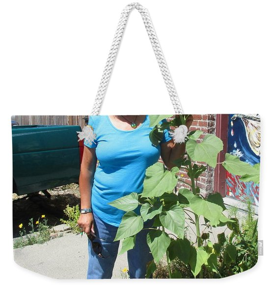 Sunshiny Hello From Marie Weekender Tote Bag