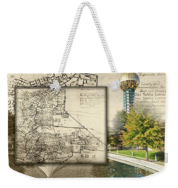 Sunsphere Mapped Weekender Tote Bag